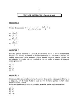 QUESTÃO 16 O valor da expressão 2 3 53 3 5 3 3 5