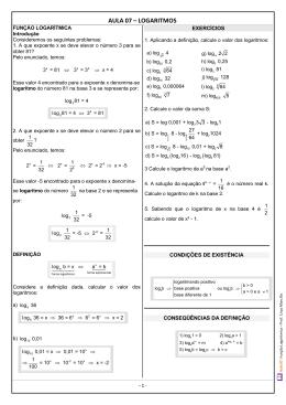 Aula 07 | Função logarítmica