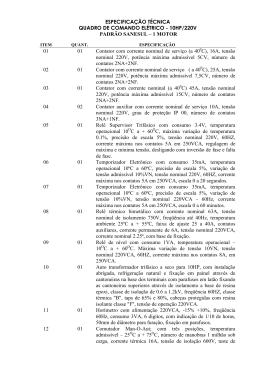 quadro de comando 10cv compensada 1 motor 220v