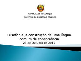 Lusofonia: a construção de uma língua comum de concorrência