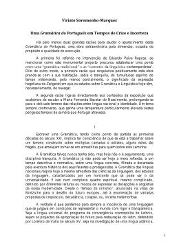 Viriato Soromenho-Marques Uma Gramática do Português em