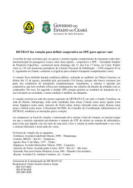 DETRAN faz votação para definir cooperativa ou SPE - Detran-Ce