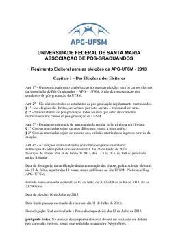 universidade federal de santa maria associação de pós