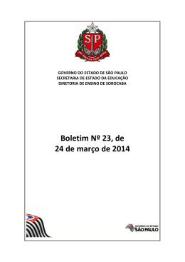 boletim 23 - Diretoria de Ensino - Região de Sorocaba