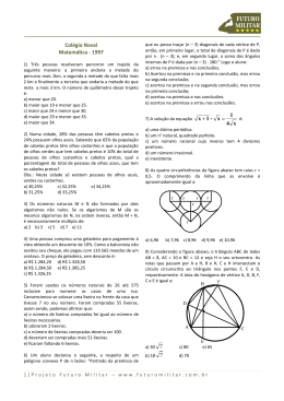 Colégio Naval Matemática - 1997 •