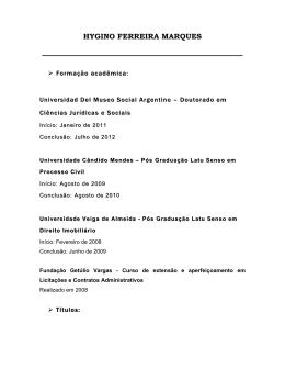 HYGINO FERREIRA MARQUES