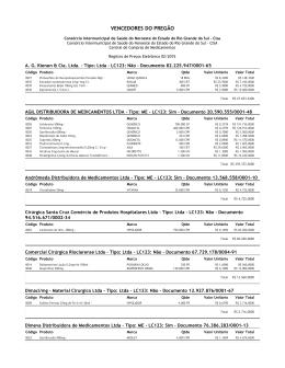Registro de preços 02/2015- vencedores