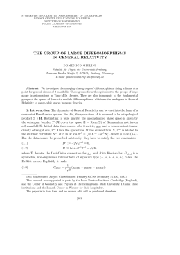 the group of large diffeomorphisms in general relativity