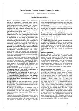 1. ESCALAS TERMOMÉTRICAS - Professor Walter Pacheco