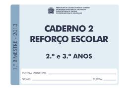 Caderno 2 Reforço Escolar - Prefeitura do Rio de Janeiro