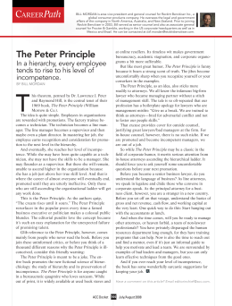 The Peter Principle - Association of Corporate Counsel