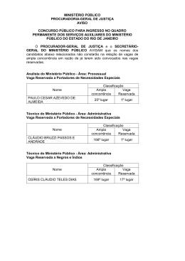 Aviso de Não Convocação - D.O. de 23/11/2012