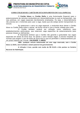 COMO UTILIZAR SEU CARTÃO DE ESTACIONAMENTO EM VAGA