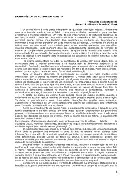EXAME FÍSICO DE ROTINA DO ADULTO Traduzido e