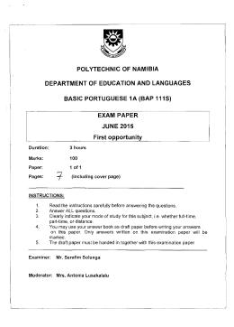 exam paper june 2015