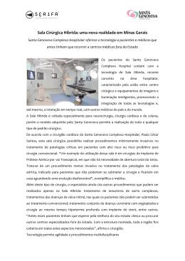 Sala Cirúrgica Híbrida: uma nova realidade em