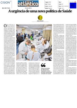 A urgência de uma nova política de Saúde