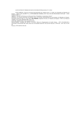 termo de execução descentralizada nº 41/2014