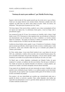 """""""Sentença de morte para mulheres"""", por Mariliz Pereira Jorge"""