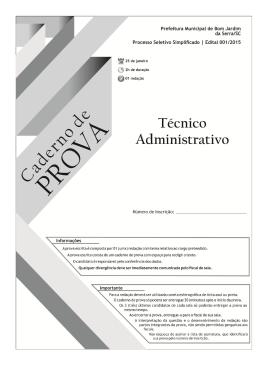 Prova Técnico Administrativo