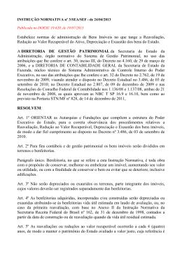 Instrução Normativa nº 3 SEA/SEF de 19/07/2013