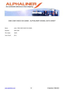 CMA CGM VASCO DA GAMA - ALPHALINER VESSEL DATA SHEET