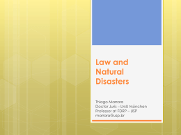 Law and natural disasters