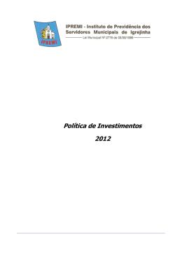 Política de Investimentos 2012