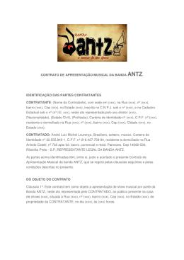 CONTRATO DE APRESENTAÇÃO MUSICAL DA BANDA ANTZ