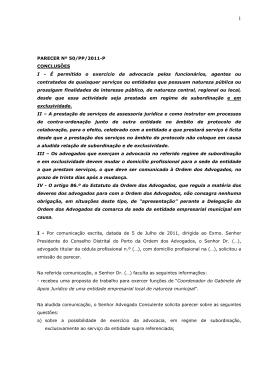 Parecer n.º 50-PP/2011-P