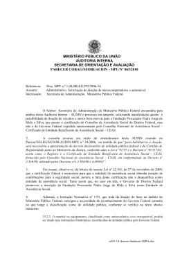 ministério público da união auditoria interna secretaria - audin