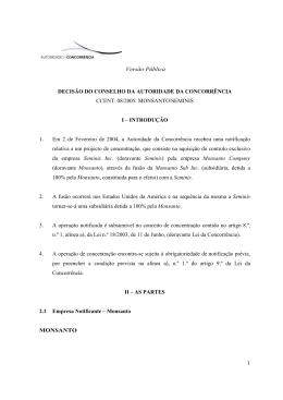 MONSANTO/SEMINIS I - Autoridade da Concorrência