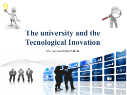 The university and the Tecnological Inovation