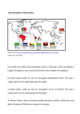 ATIVIDADES COM MAPA a) Escolha três países