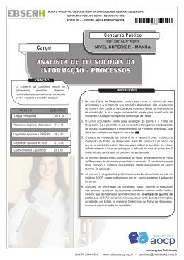 analista de tecnologia da informação - processos
