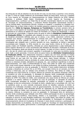 Ata 006/2010 - Geoprocessamento