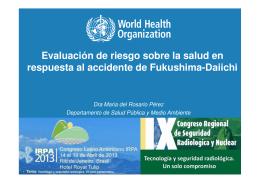 Evaluación de riesgo sobre la salud en respuesta al