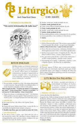 nº 2099 — 19/04/2015 — 3º domingo da páscoa