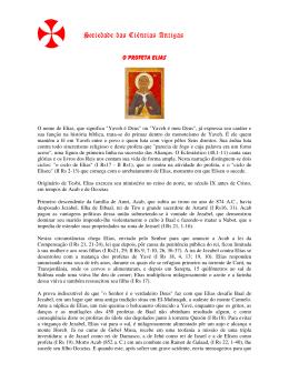 ProfetaElias - Sociedade das Ciências Antigas