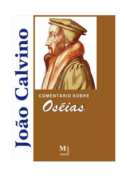 Comentário de Calvino - Igreja do Nazareno Comunidade Paulista