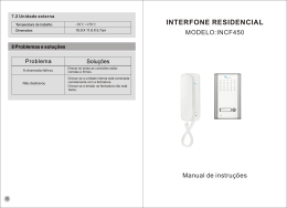 interfone residencial - Synter Fechaduras
