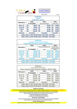 Valor Valor Valor CJ Completo 08 ao 12 80,00 R$ 40,00 R$ 40,00 R