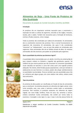 Alimentos de Soja - Uma Fonte de Proteína de Alta Qualidade
