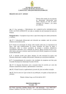 109/15 - Câmara Municipal de Manaus