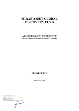 MIRAE ASSET GLOBAL DISCOVERY FUND