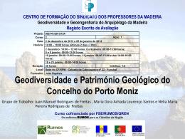 G1 Juan Nelia e Dora Geodiversidade e Património Geológico do
