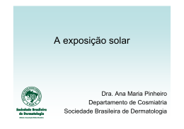 A exposição solar