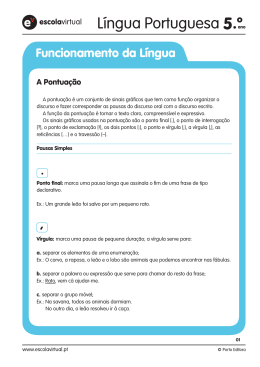 5 Funcionamento da Língua