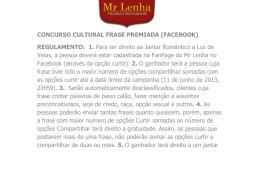 CONCURSO CULTURAL FRASE PREMIADA