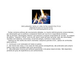 DECLARAÇÃO INFELIZ - Blog Varzea Paulista